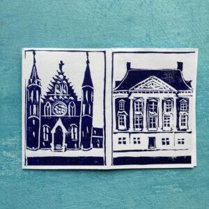 mini zine Haagse gebouwen