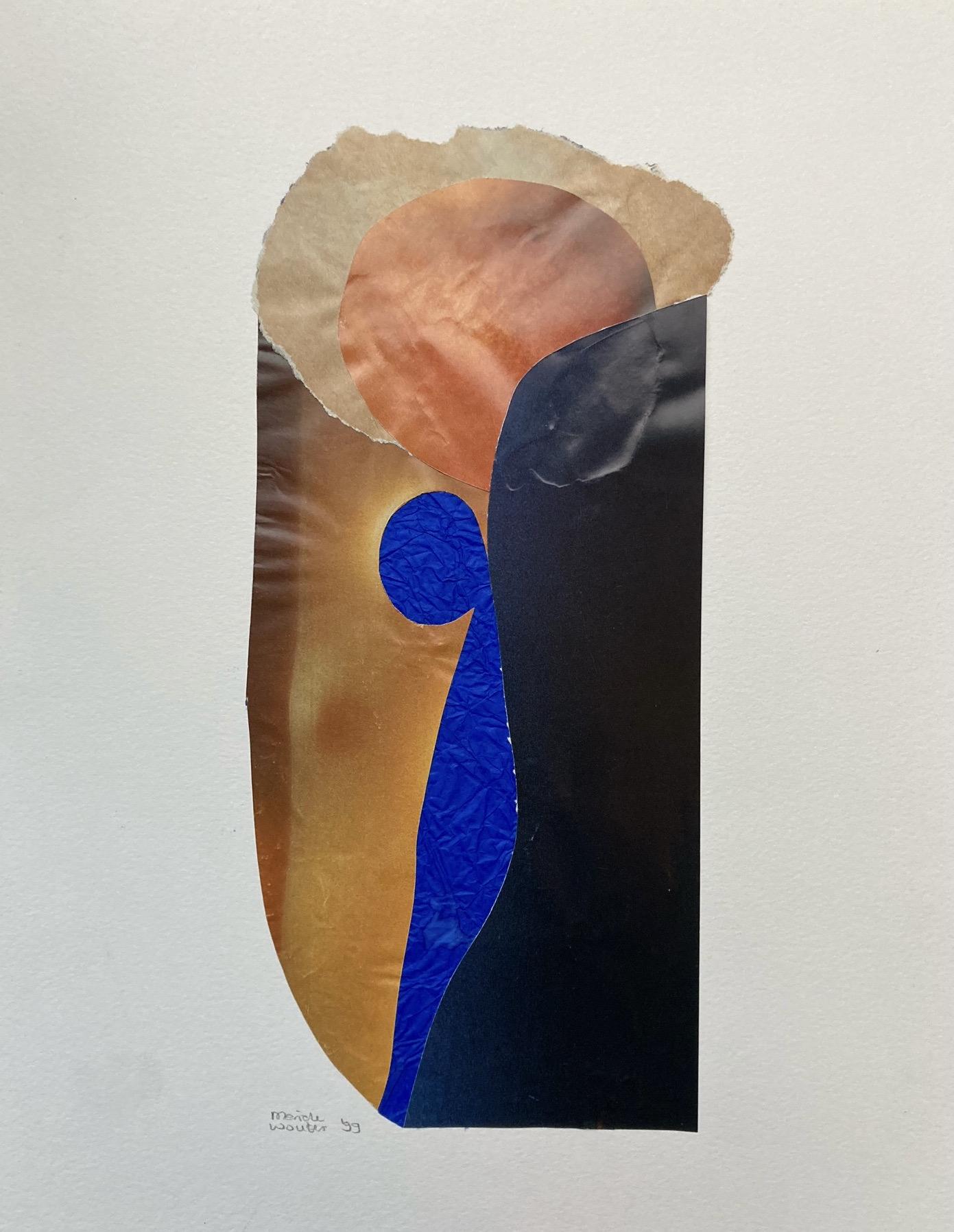 collage leunend figuur