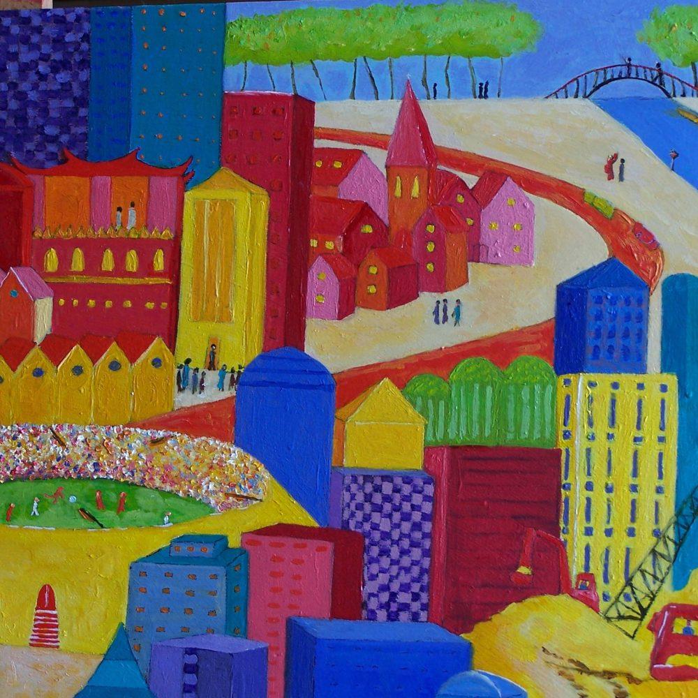 schilderij 'metropool': opdracht IHS