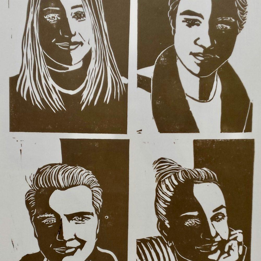lino druk portretten